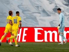 El Cádiz ganó gracias al Choco Lozano. EFE/J. Guillén