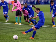 Jaime Mata was spot on as Getafe beat Barcelona 1-0 with a penalty. EFE
