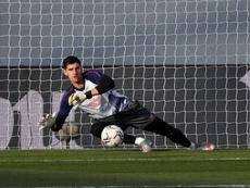 Courtois, optimista con el devenir del Madrid en Champions. EFE