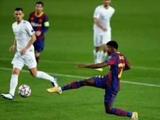 Fati sigue en estado de gracia con otro gol ante el Ferencvaros. EFE