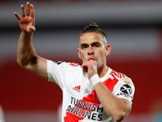 Borré abrió el marcador para River Plate. EFE