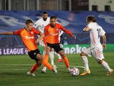 El Shakhtar logró un inesperado y sufrido triunfo ante el Madrid. EFE