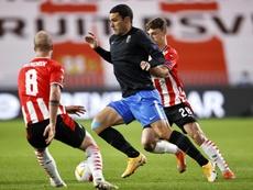 Granada vence PSV de virada em estreia na Liga Europa. Captura/MovistarLigadeCampeones