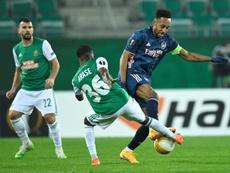 Aubameyang fez o gol da vitória.  EFE/EPA/CHRISTIAN BRUNA