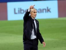 Zidane destacó la importancia de los tres puntos conseguidos. EFE