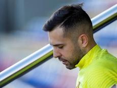 Jordi Alba incertain face à Cadix. efe