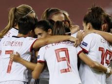 España goleó 4-0 a la República Checa. EFE