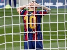 Messi voltou a ficar sem fazer gol no Real Madrid. EFE/ Andreu Dalmau