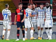 Lukaku foi o nome da vitória da Inter de Milão. EFE/EPA/SIMONE ARVEDA