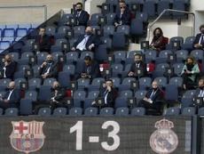 O Barça não gostou nada da arbitragem. EFE/ Andreu Dalmau