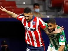 Com um jogo a menos, Atlético de Madrid é o terceiro colocado no Espanhol. EFE/Ballesteros