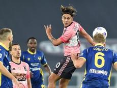 La Juventus empató ante el Hellas Verona. EFE