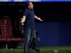 Sergio analizó la derrota frente al Levante. EFE/Archivo