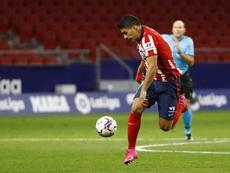Luis Suárez espera poder regresar con el Atlético de Madrid cuanto antes. EFE