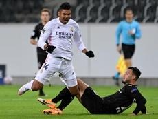 Real Madrid empatou com o Borussia Monchengladbach em 2 a 2. EFE/EPA/SASCHA STEINBACH