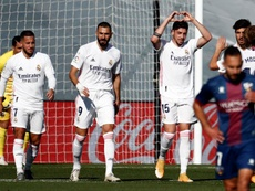 Federico Valverde satisfait de son équipe. afp