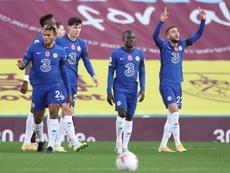 El Chelsea ganó 0-3 al Burnley. EFE