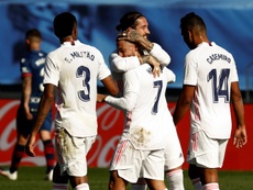 Ramos alcanzó los 500 partidos en Liga. EFE