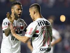 Dani Alves fue titular en la victoria de Sao Paulo. EFE