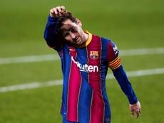 Zabaleta no ve feliz a Messi. EFE