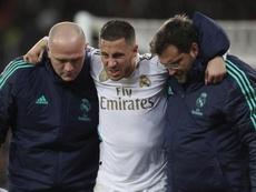 Los aficionados del Chelsea sueñan con el regreso de Hazard. EFE/Rodrigo Jiménez