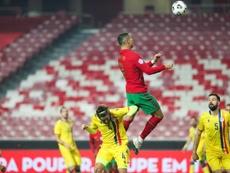 Cristiano Ronaldo marcou um dos gols contra Andorra. EFE/EPA/JOSE SENA GOULAO