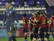 La Selección Española Sub 21 venció a Islas Feroe con comodidad. EFE