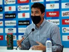 Iraola habló del enfrentamiento copero contra el Barcelona. EFE