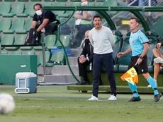 Míchel analizó el empate en Pamplona. EFE/Archivo