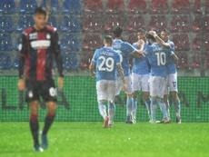 La Lazio olvida el 'caso Luis Alberto' con tres puntos bajo el agua. EFE/Carmelo Imbesi