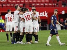 El Sevilla venció al Celta de Vigo por 4-2. EFE