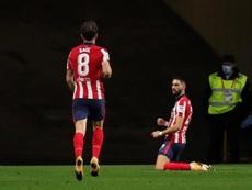 El Atlético tiene una proyección de prácticamente 100 puntos. EFE