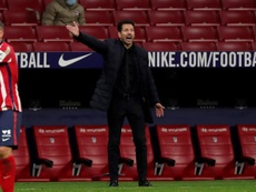 Simeone, preocupado por la Champions. EFE/Juanjo Martín