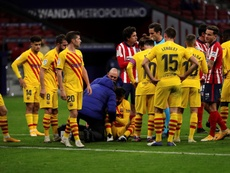 Pique was injured in the loss against Atletico Madrid. EFE