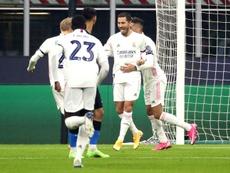 Em cobrança de pênalti, Hazard abriu o placar para o Real Madrid. EFE/EPA/MATTEO BAZZI