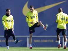 Resté à Barcelone, Nessi s'est entraîné avec Coutinho et Ter Stegen. EFE