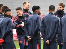 Ter Stegen praised his Bayern teammate. EFE
