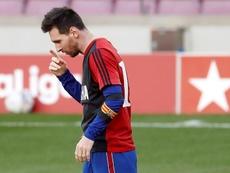 Le Barça va envoyer un courrier au Comité pour le carton jaune de Messi. EFE