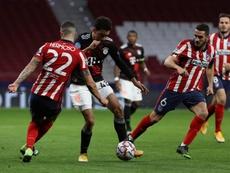 Musiala fue titular contra el Atlético. EFE