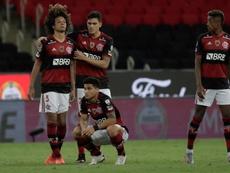 Flamengo foi eliminado pelo Racing nos pênaltis. EFE/Antonio Lacerda