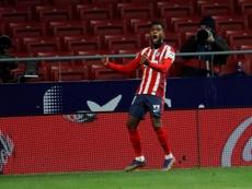 Thomas Lemar, en su mejor momento en el Atlético. EFE/Archivo