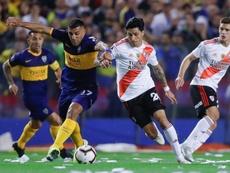 Boca Juniors e River Plate têm o mesmo fornecedor de material esportivo. EFE/Juan Ignacio Roncoroni