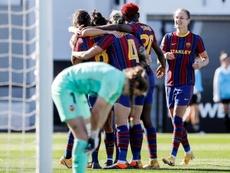 El Barça ya suma 45 goles en ocho partidos. EFE