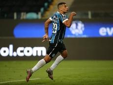 Diego Souza foi o grande nome do Gremio na vitória sobre o São Paulo. EFE/DIEGO VARA/Arquivo