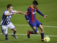 Los líderes del Real Sociedad-Barcelona. EFE