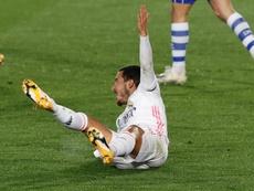 Eden Hazard está disponível para o próximo jogo do Real Madrid. EFE/Chema Moya/Arquivo
