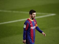 Leo Messi rentre en Espagne. EFE