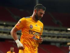 Gignanc, MVP e Chuteira de Ouro da Liga dos Campeões CONCACAF. EFE/Francisco Guasco