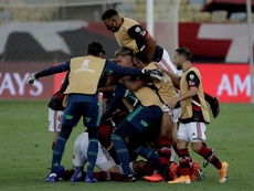 Flamengo mostrou melhora de rendimento contra o Palmeiras. EFE/Antonio Lacerda/Arquivo