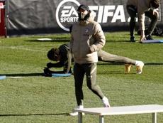 En el Atlético alucinan con el nivel de Giuliano Simeoone. AFP